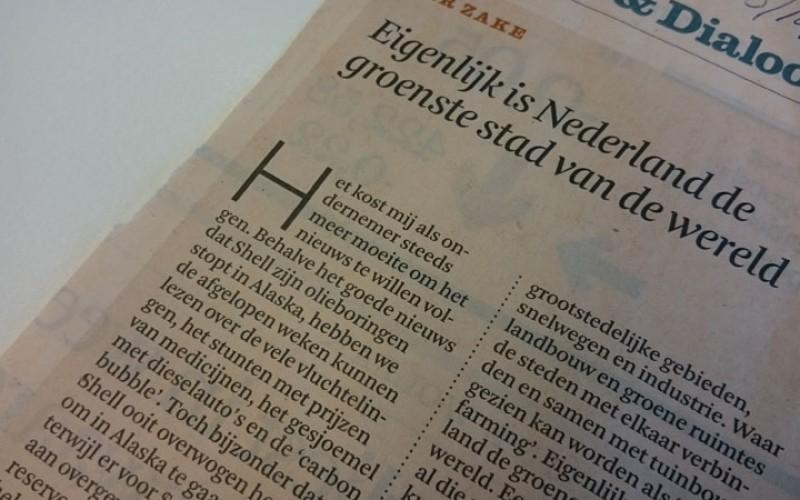 Eigenlijk is Nederland de groenste stad van de wereld